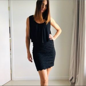 Cocktail Dress - Black w Lace
